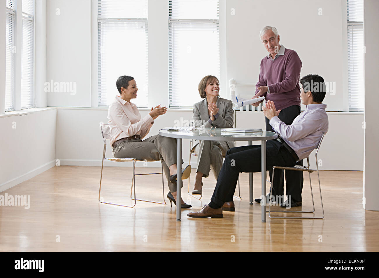 People in meeting - Stock Image