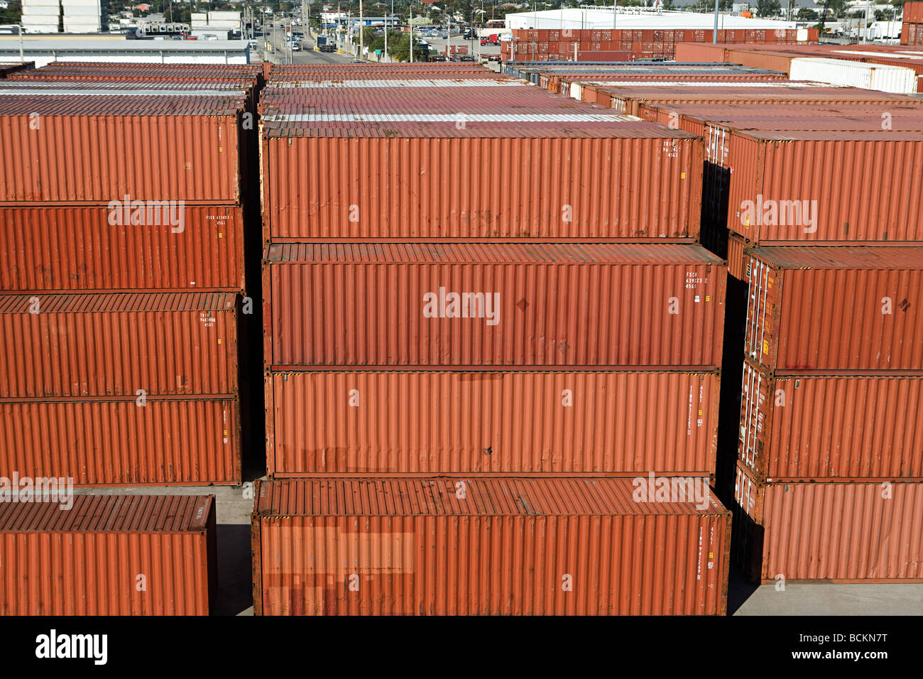 Cargo containers - Stock Image