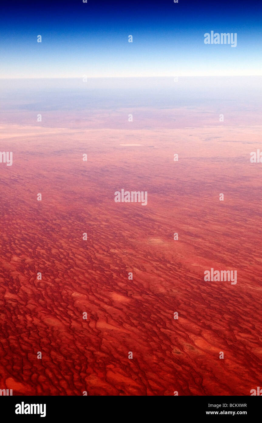 Aerial view of the Australian Outback - Stock Image