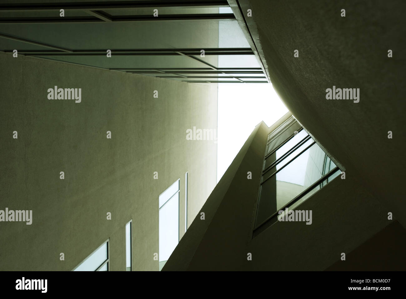 Architectural shot, view from directly below - Stock Image