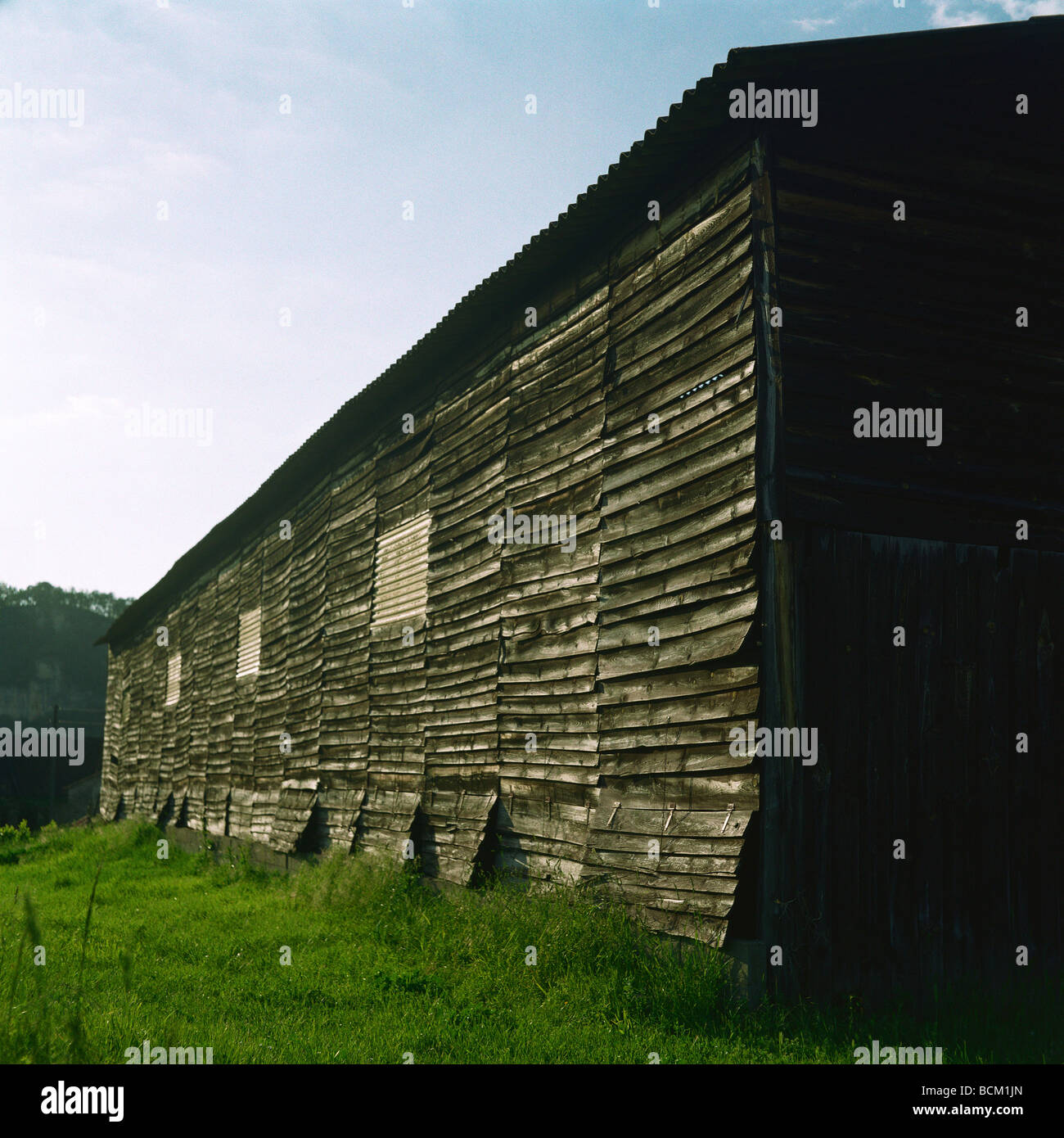 Wood building, exterior view - Stock Image