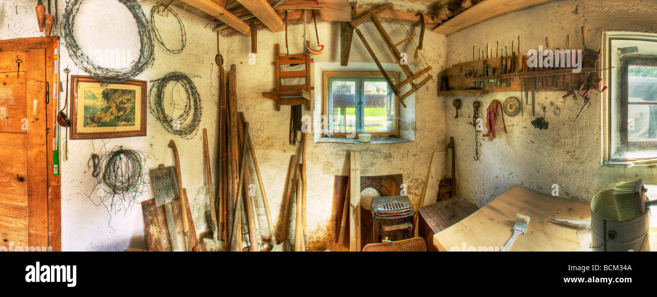 Interior Of Rustic Tool Shed Stock Photo 25027754