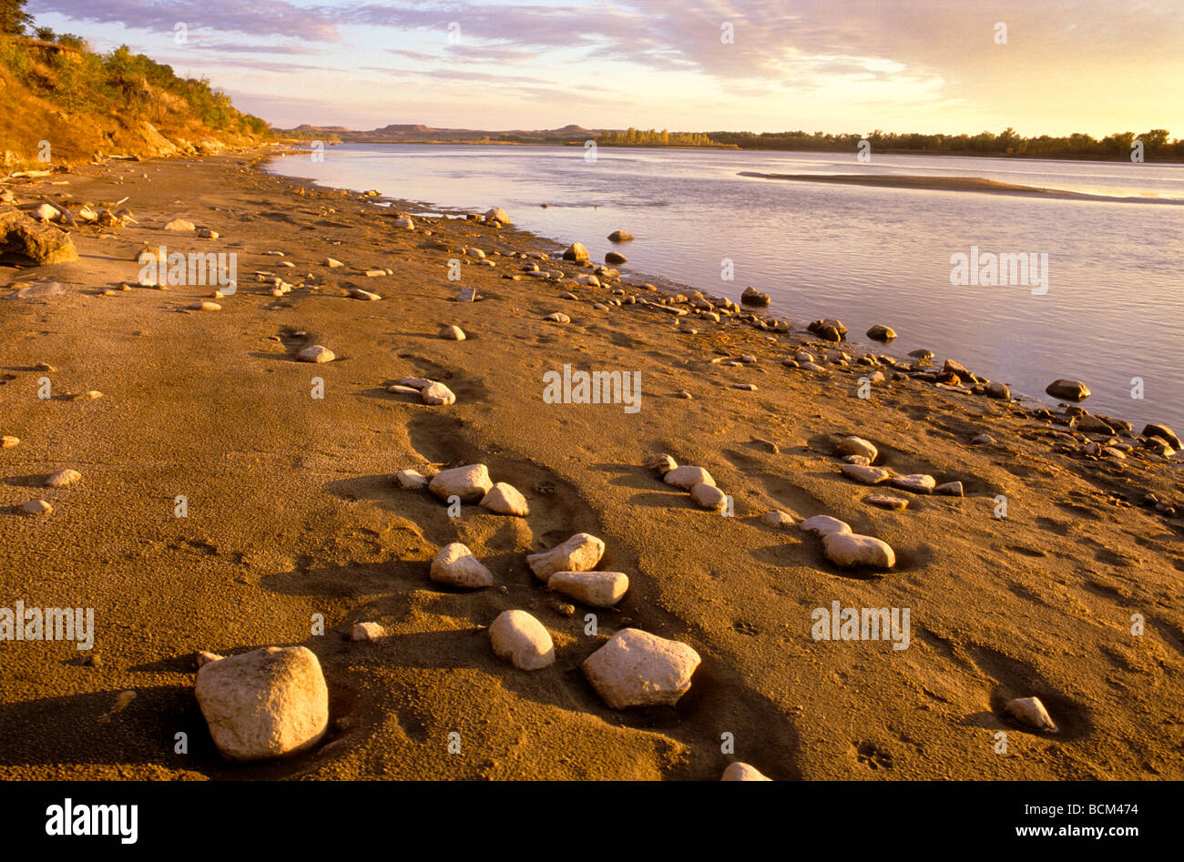 Rocky Beach at Sunrise - Stock Image