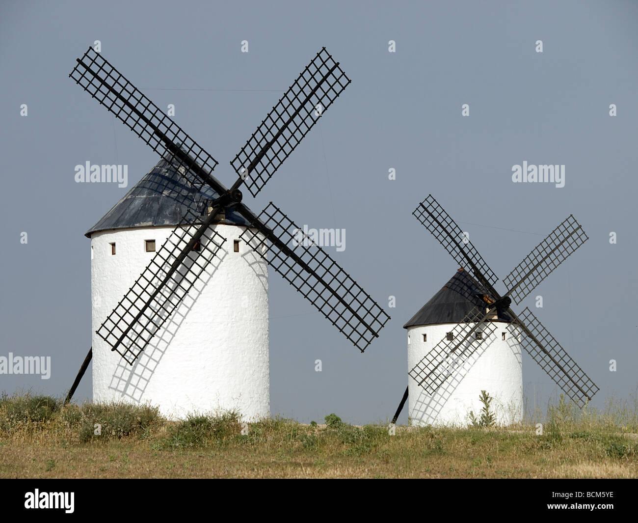 Windmills on La Mancha, Spain - Stock Image