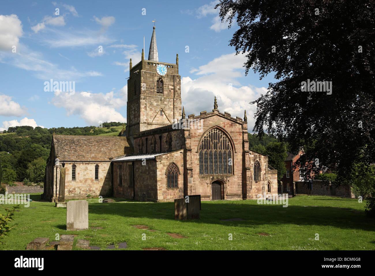 St Mary's Church, Wirksworth, Derbyshire, England, UK - Stock Image