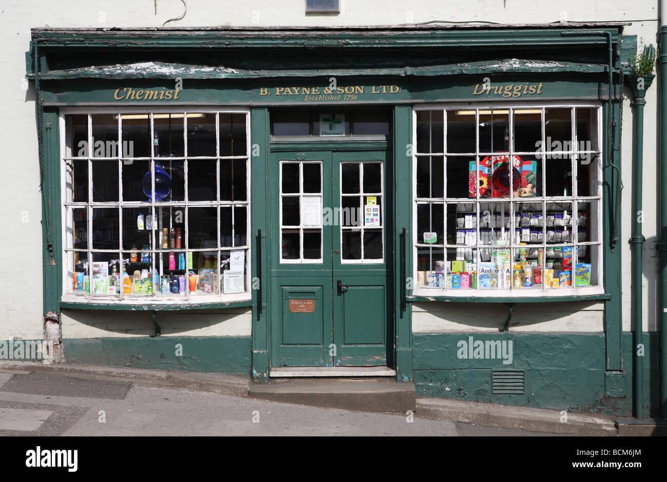Old Pharmacy, Wirksworth, Derbyshire, England, UK - Stock Image