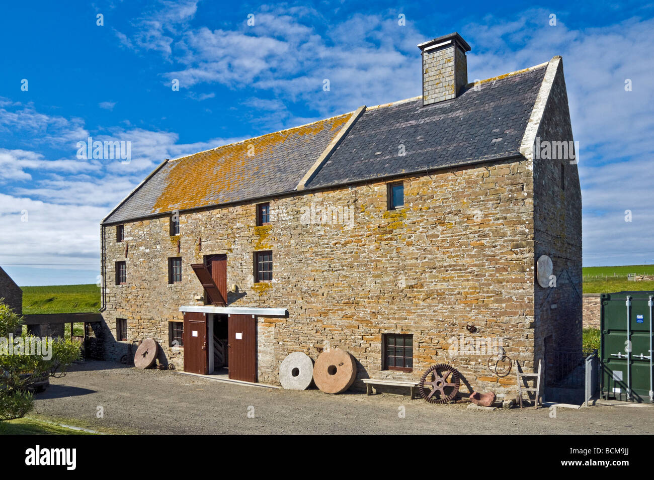 Barony Mills in Birsay on mainland Orkney Scotland milling an ancient type of barley - Stock Image