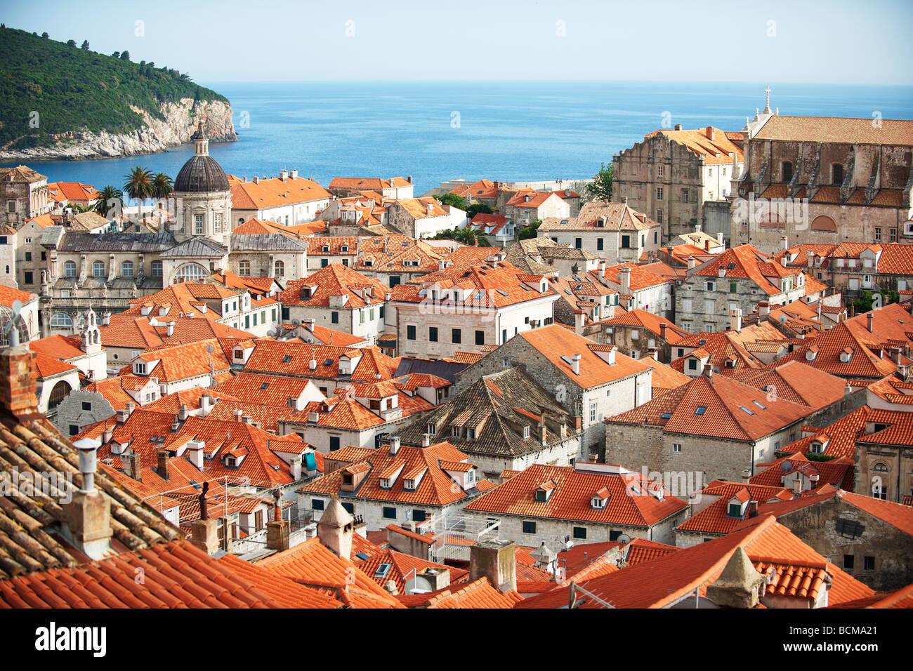 roof tops of Dubrovnik - Croatia - Stock Image