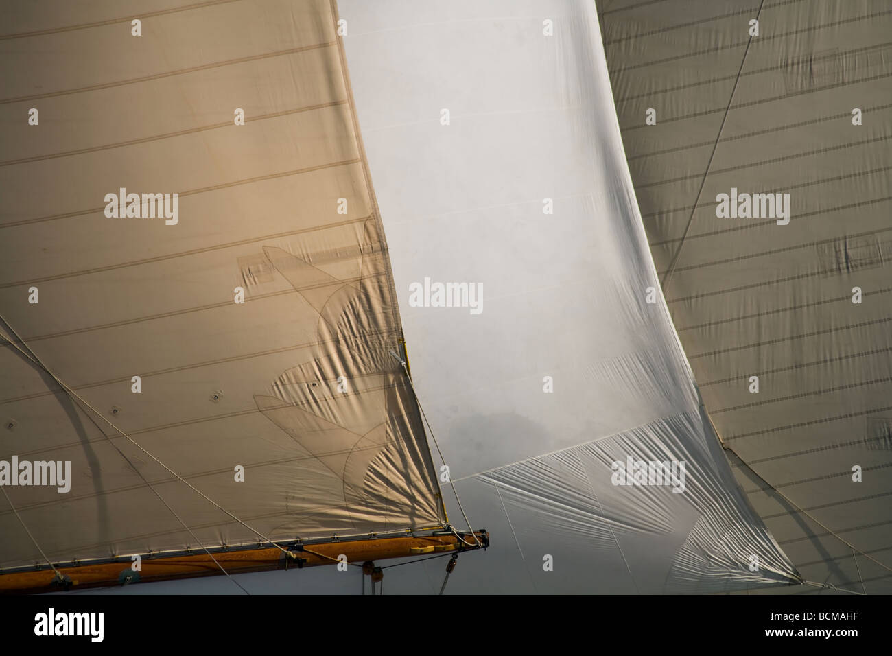 Large plan of Sails of an old sailboat - Stock Image