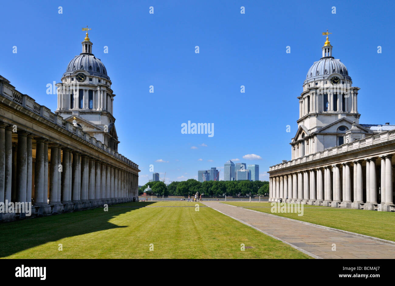 Old Royal Naval College Greenwich London United Kingdom - Stock Image