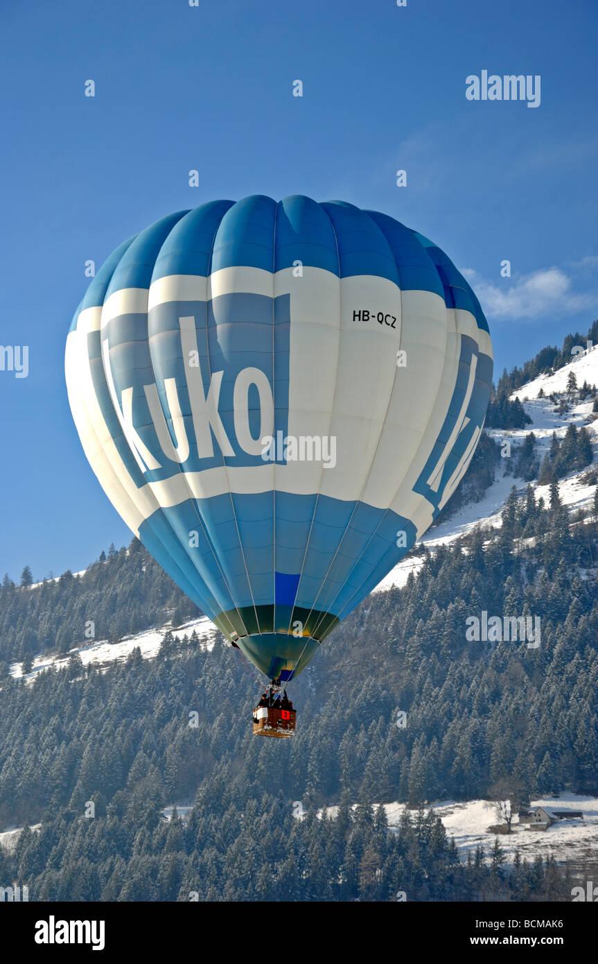 Kuko balloon 2006 Chateau d Oex Hot Air Balloon Festival Switzerland Europe Stock Photo