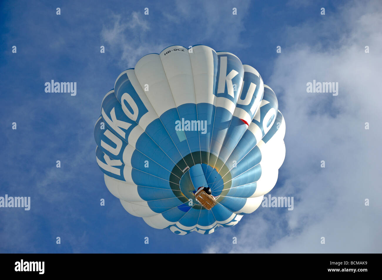 Kuko balloon 2006 Chateau d Oex Hot Air Balloon Festival Switzerland Europe Stock Photo