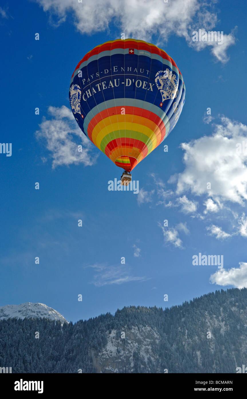 2006 Chateau d Oex Hot Air Balloon Festival Switzerland Europe Stock Photo