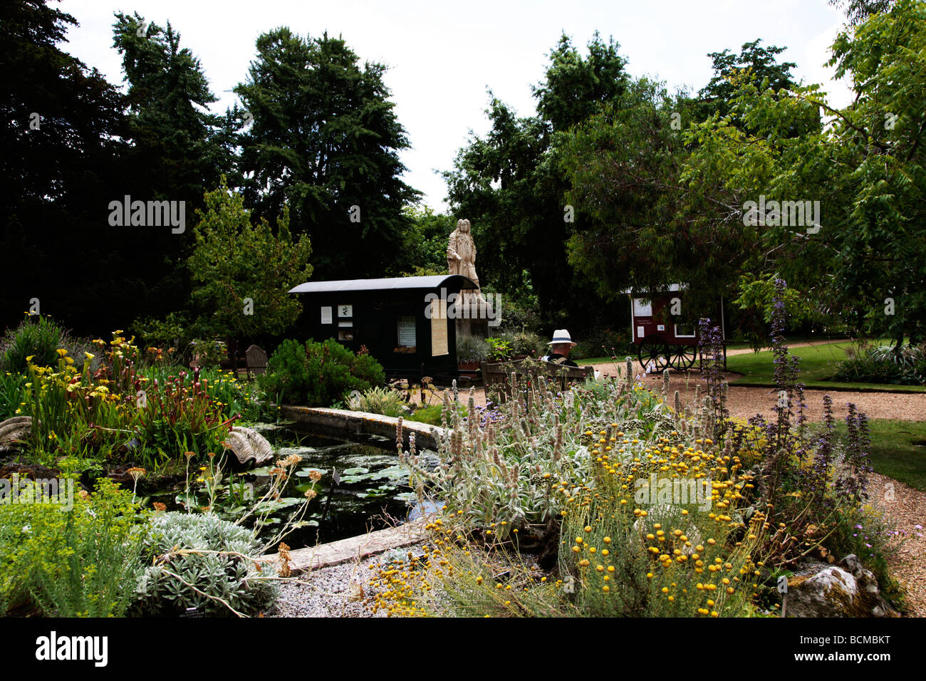 Chelsea Physic Garden London's oldest botanic garden and Statue of  Hans Sloane London England UK - Stock Image