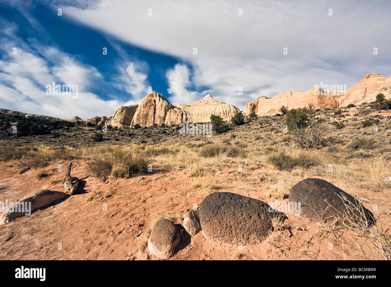Stones in Capitol Reef National Park Stock Photo
