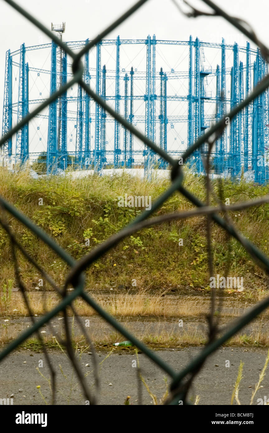 Gas Holders at Bell Green, Sydenham, South London - Stock Image