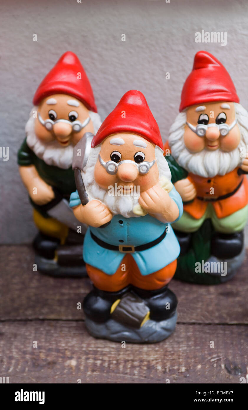 three garden gnomes on sale in lynton north devon england - Garden Gnomes For Sale