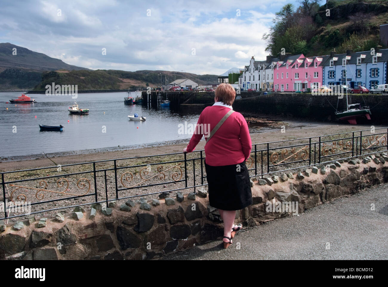 Portree on the Isle of Skye, Scotland, UK - Stock Image