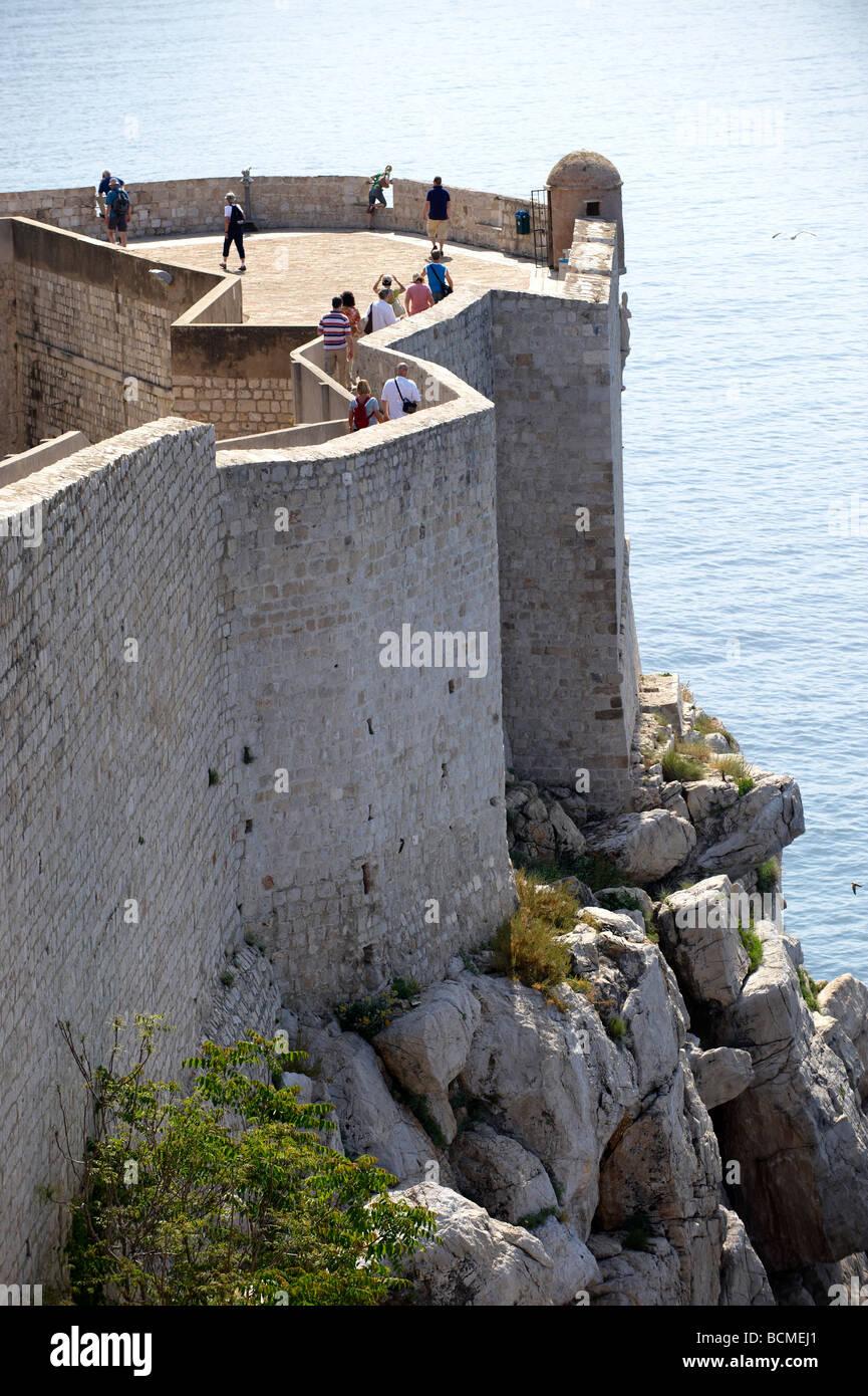 City Walls of Old Dubrovnik - Croatia - Stock Image