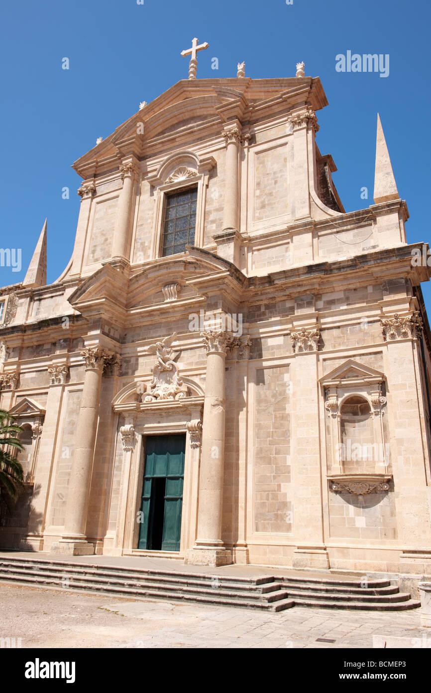 The Baroque Jesuit Church of St Igantius - Stock Image