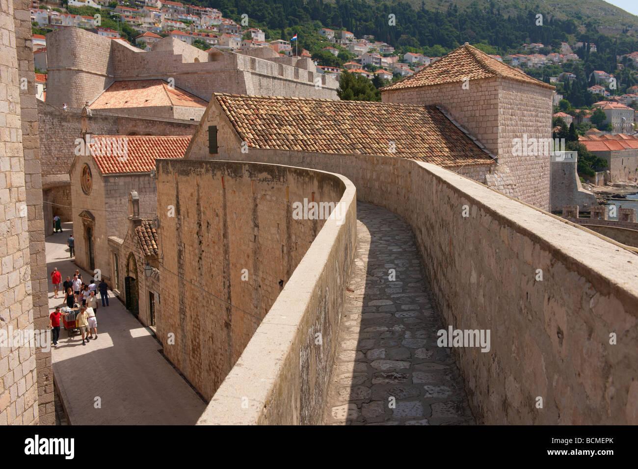 City walls of Dubrovnik - Croatia - Stock Image
