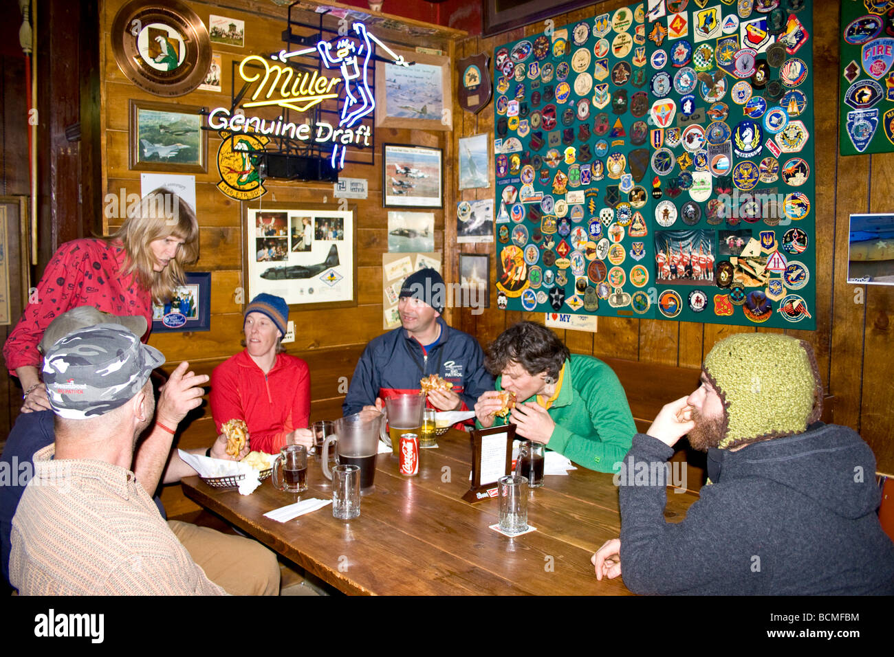 Shooting Star Saloon in Huntsville Utah. This is reportedly the oldest continuously running saloon in Utah. - Stock Image