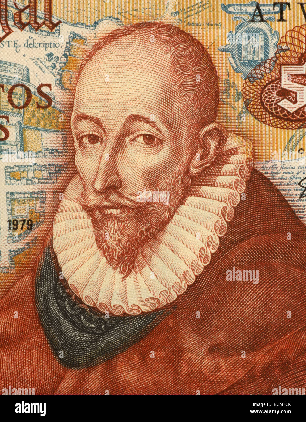 Francisco Sanchez on 500 Escudos 1979 Banknote from Portugal - Stock Image