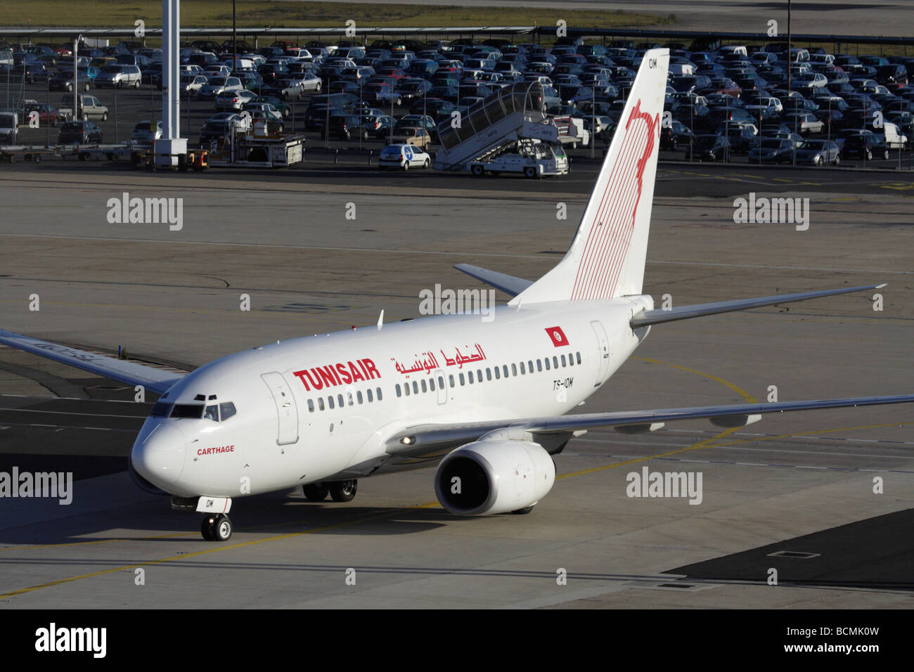 Tunisair Boeing 737-600 at Paris Orly Airport - Stock Image