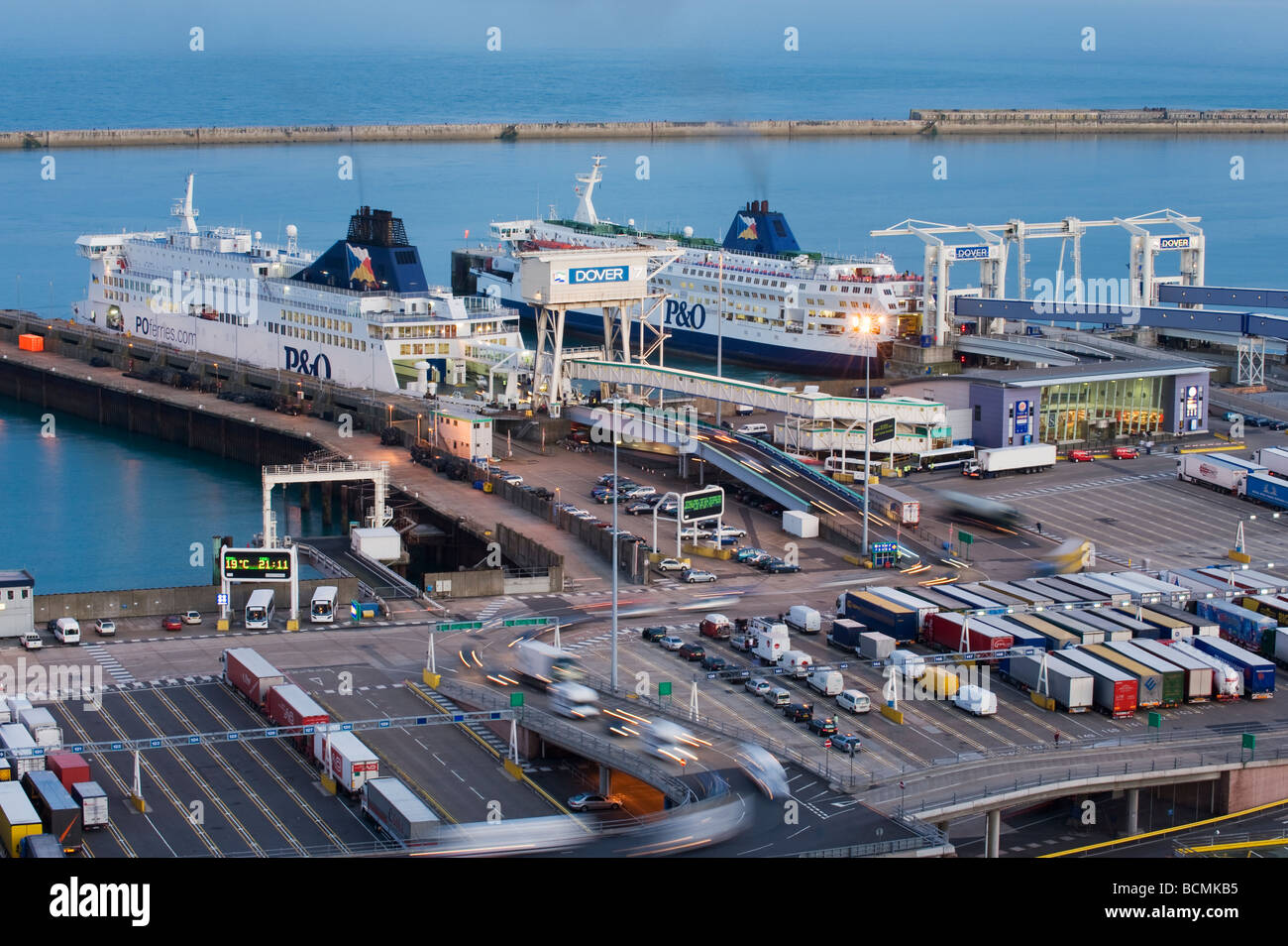 Eastern docks and Ferry Port Dover Kent UK Stock Photo