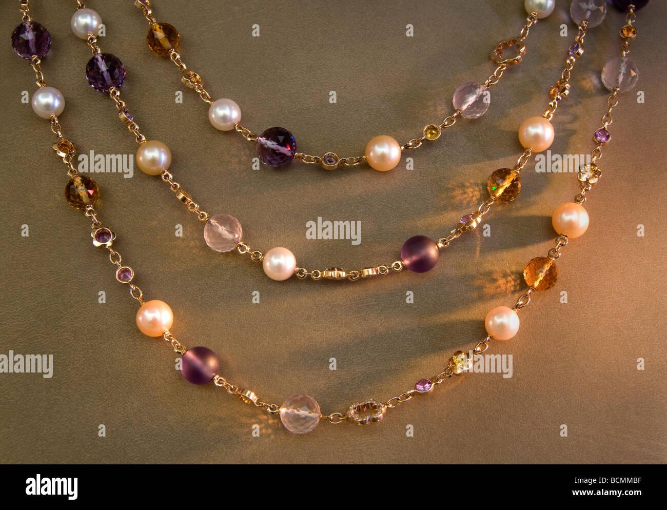 Buccellati Place Vendome Paris Juwel Juweler chain - Stock Image
