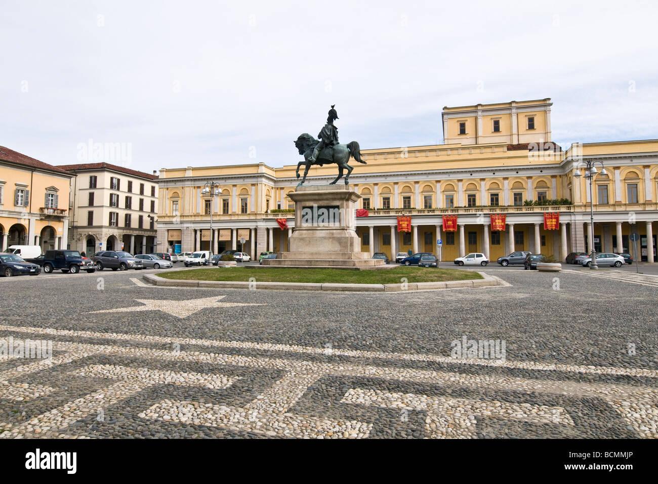 Piazza Martiri della Libertà Novara Italy - Stock Image