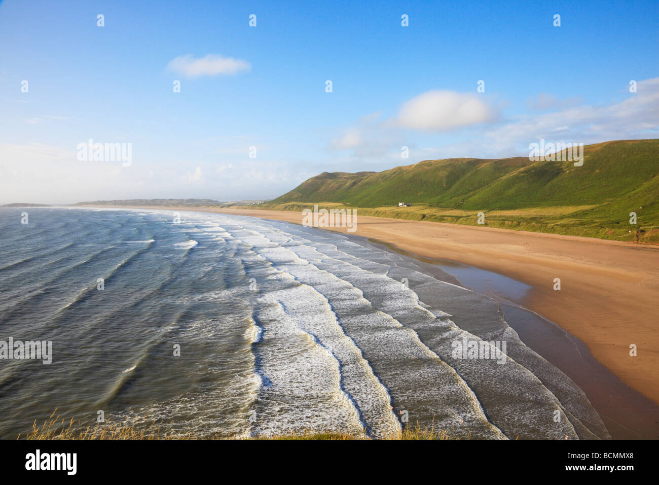 Views around Rhossili Bay on the Gower - Stock Image