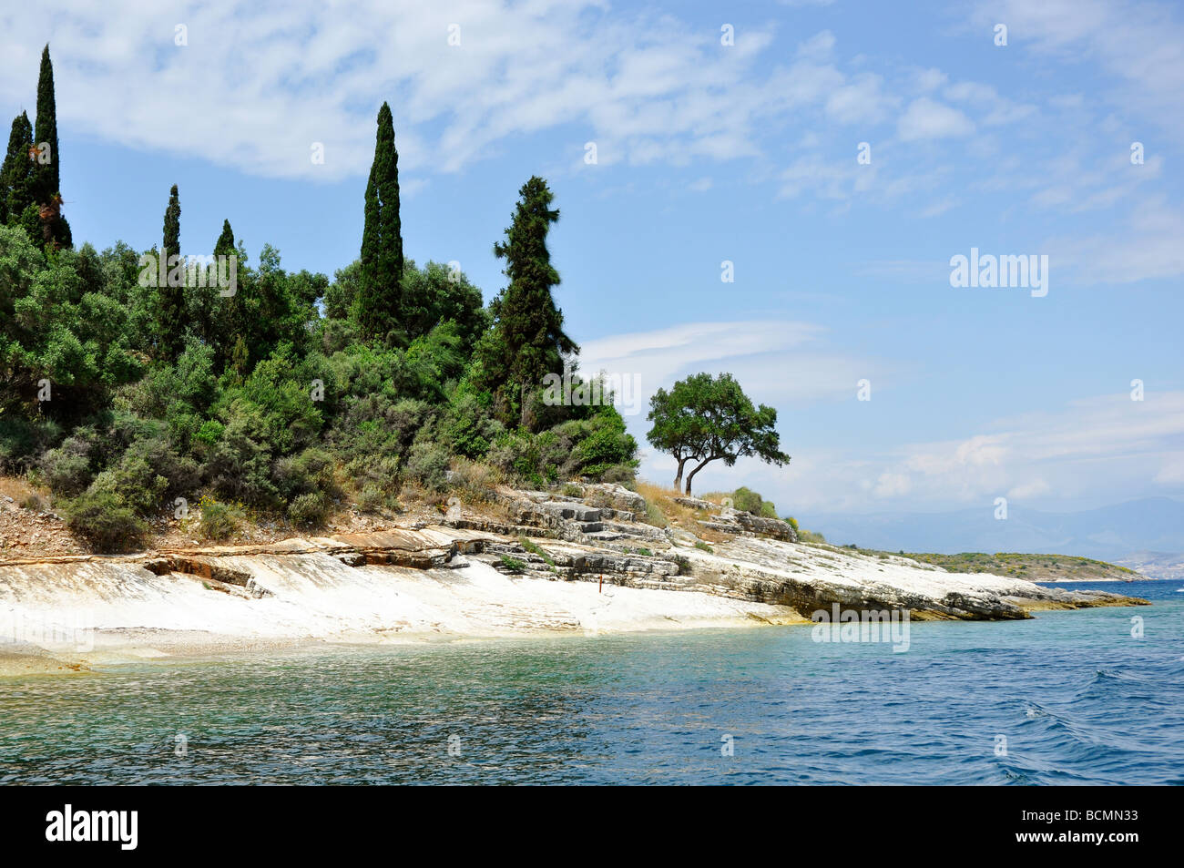 NE coast of Corfu - Stock Image