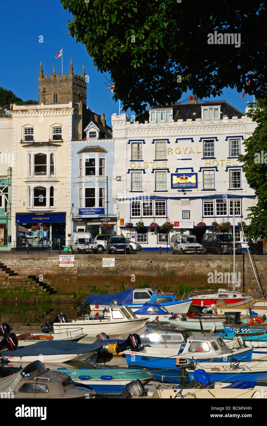 boats in the harbour at dartmouth,devon,uk Stock Photo