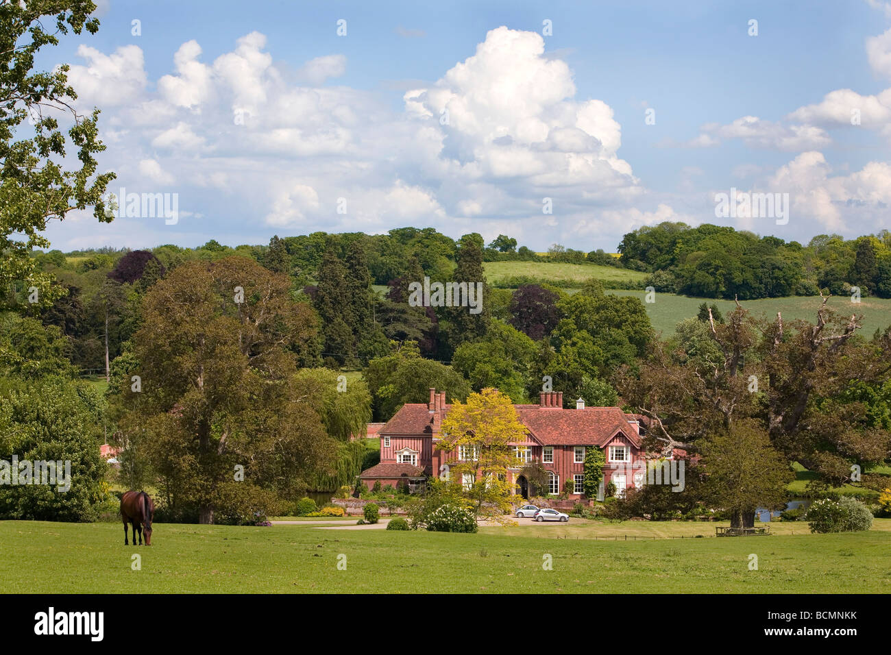 General Views Boxted Hall, Boxted near Sudbury Suffolk - Stock Image