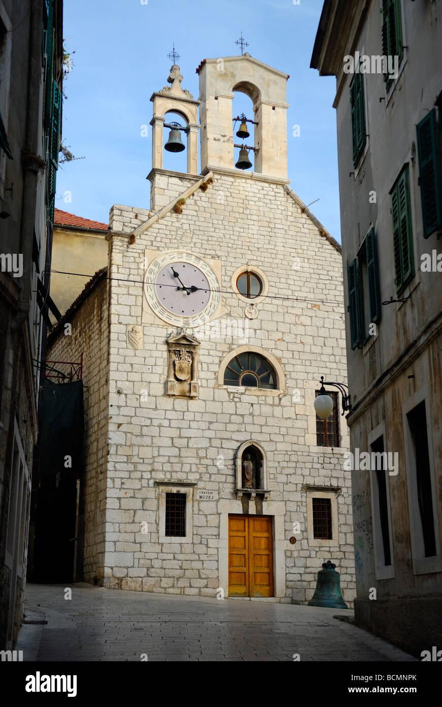 Church of St Barbara at Sibenik on Dalmatian Coast of Croatia - Stock Image