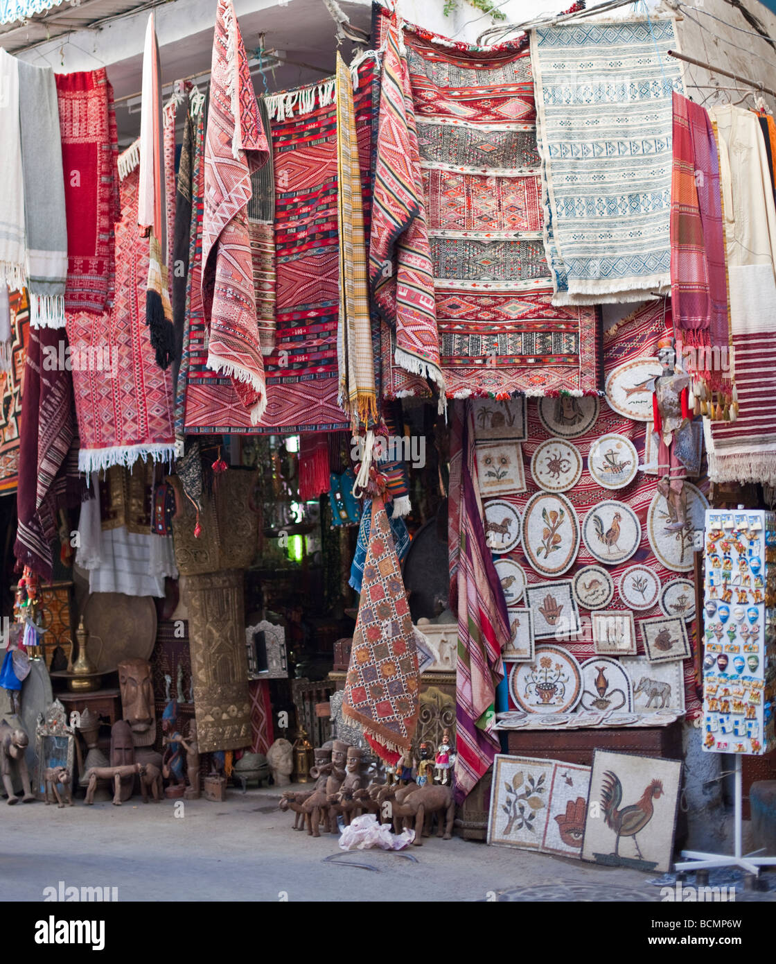 Shops In The Tunis Medina Old City Display Handicrafts And Other