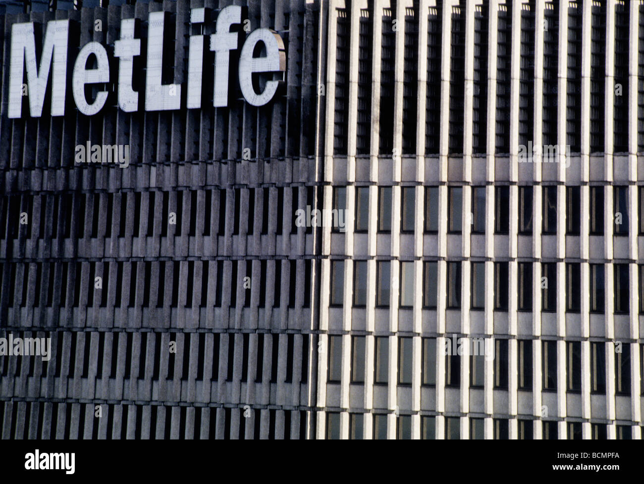MetLife Building Close Up New York City Detail - Stock Image