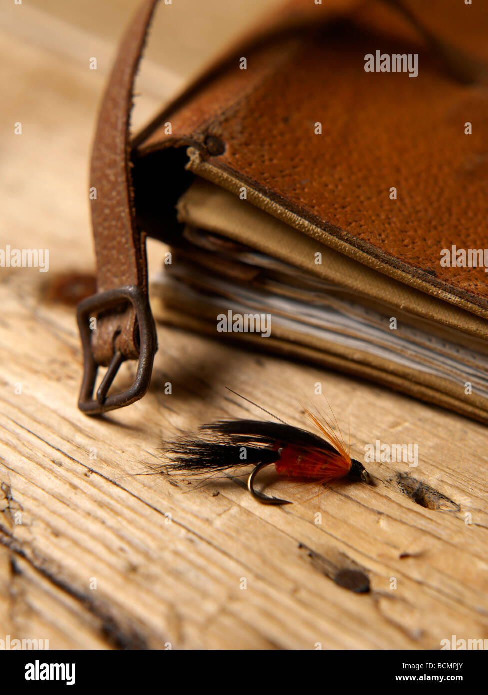 Artificial fly - fly fishing - Stock Image