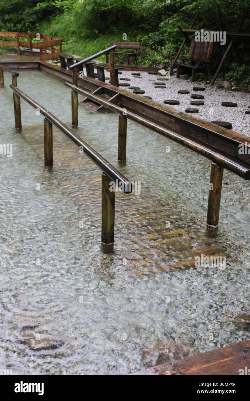 kneipp basin in austria Stock Photo