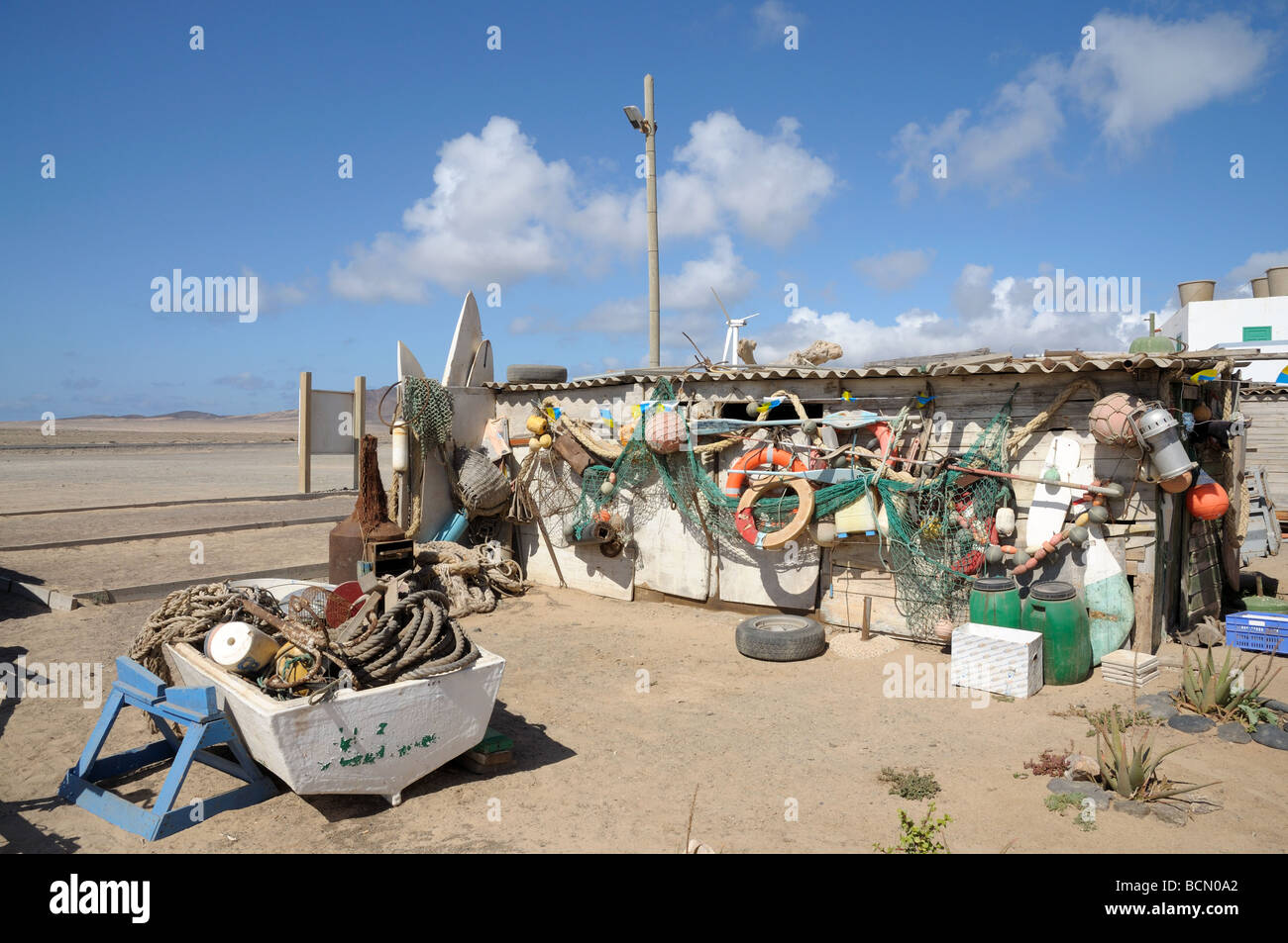 Backyard Of A Fishing Village. Canary Island Fuerteventura, Spain   Stock  Image