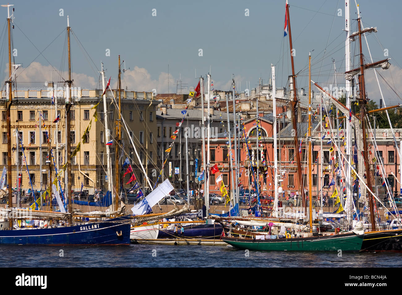TALL SHIPS RACES St Petersburg Russia July 11 14 2009 Stock Photo