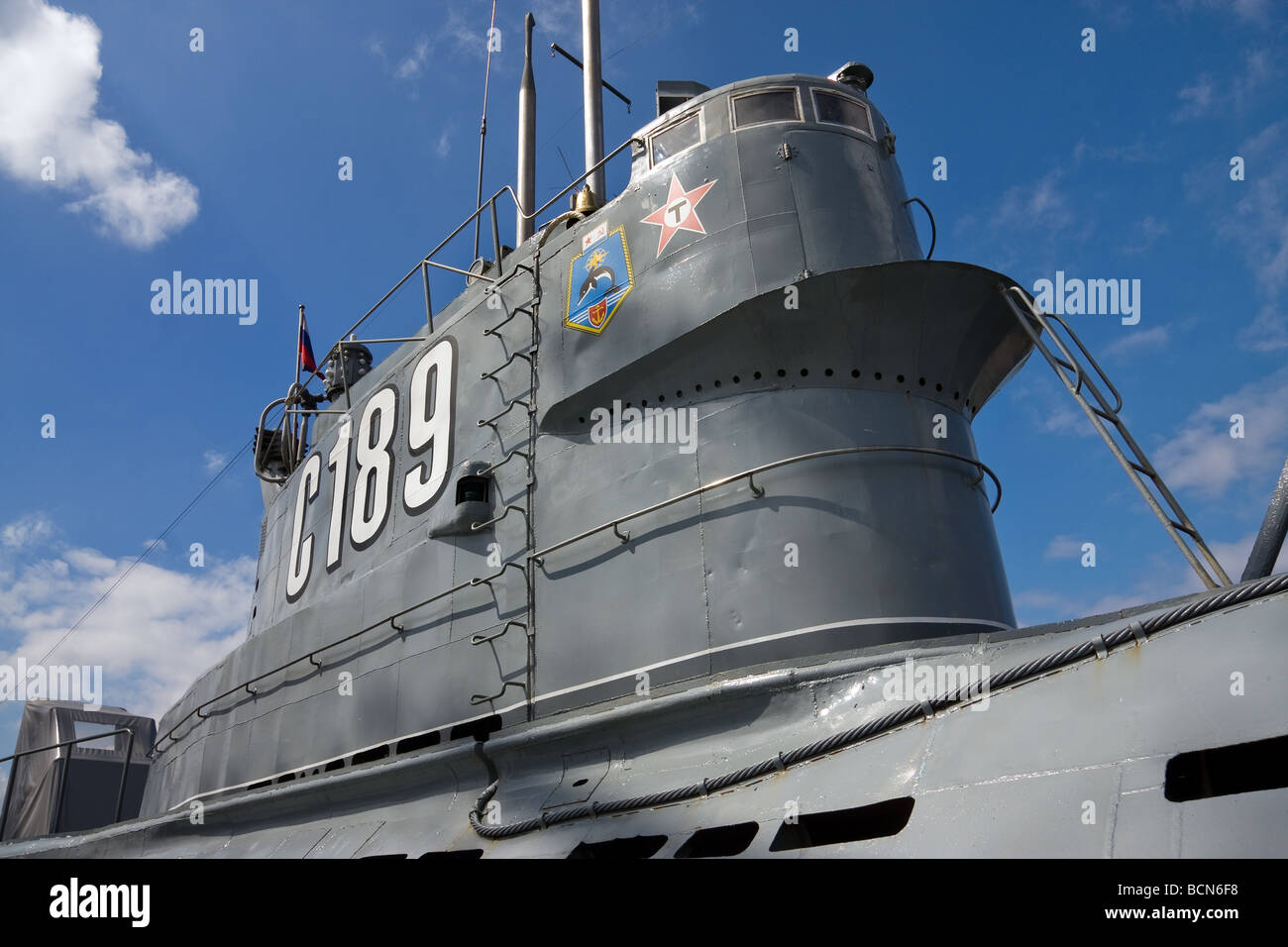 Russian diesel submarine C-189 NATO classification name Whiskey 215  nowadays museum St.Petersburg, Russia