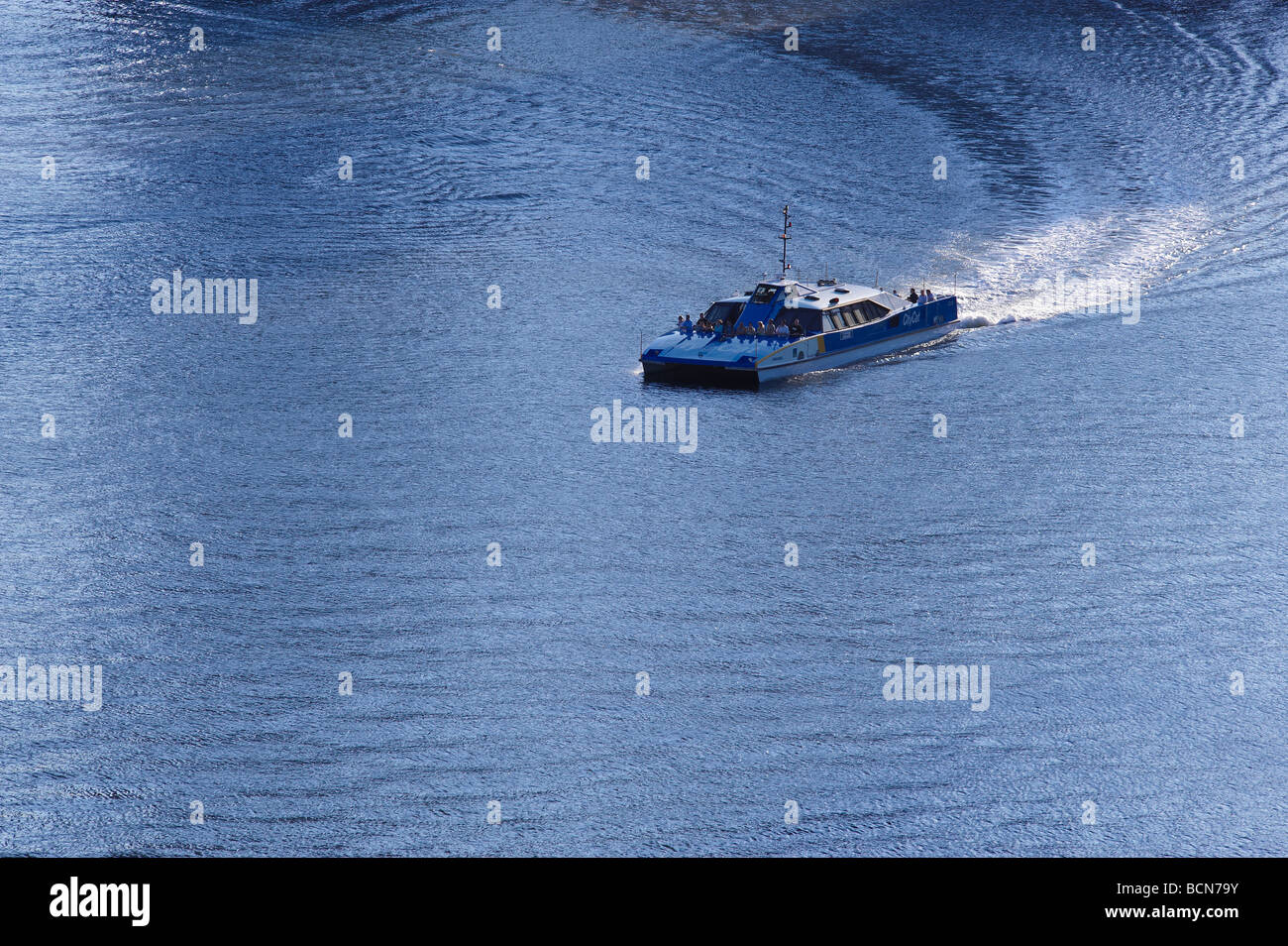 City ferry commuting on the Brisbane River Australia - Stock Image