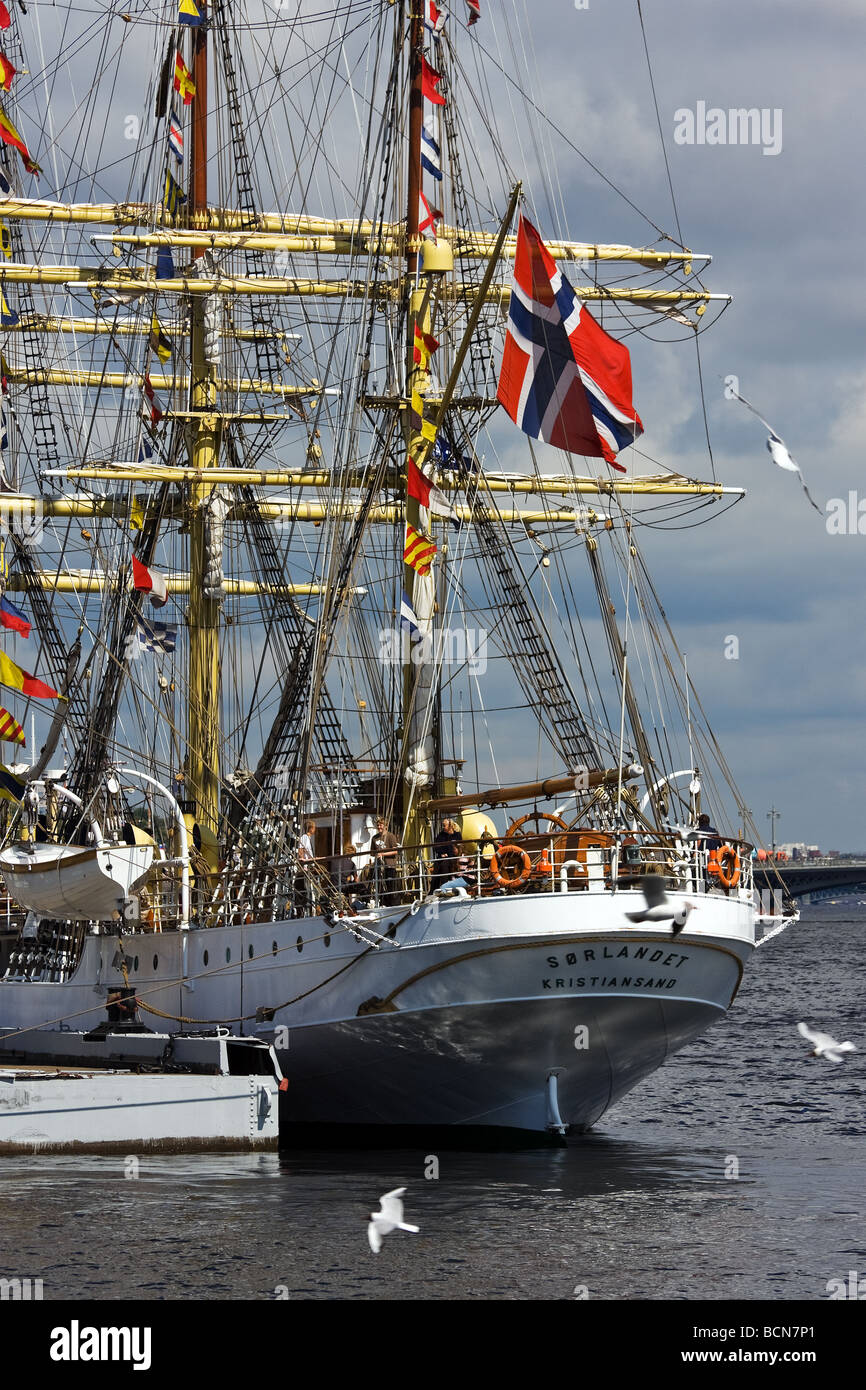 SORLANDET sail ship during TALL SHIPS RACES St Petersburg Russia July 11 14 2009 - Stock Image