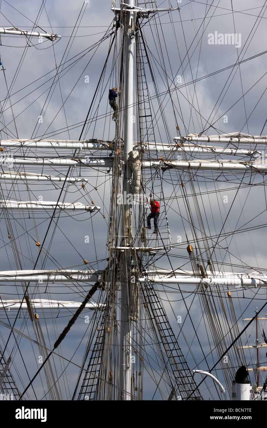 CHRISTIAN RADICH sail ship Norway during TALL SHIP S RACES St Petersburg Russia July 11 14 2009 Stock Photo
