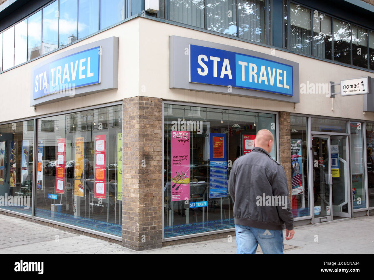 Branch of STA travel agents, central London - Stock Image