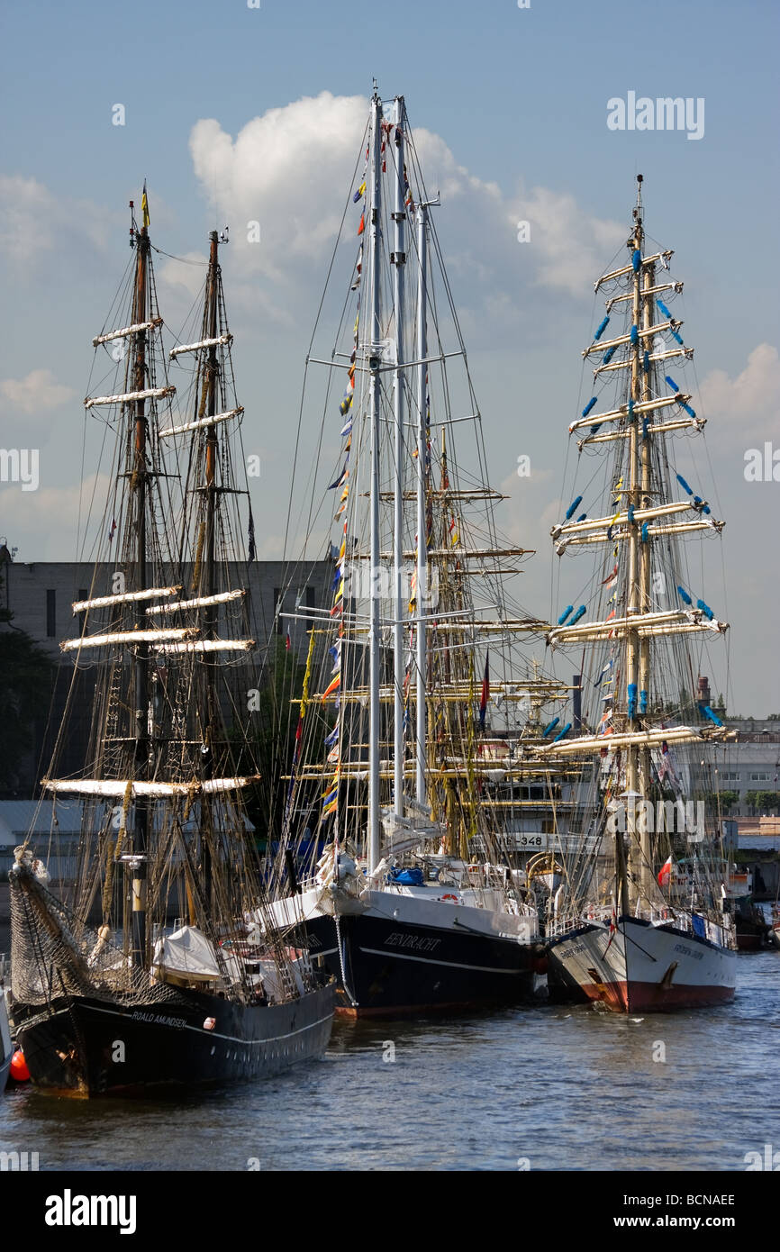 TALL SHIPS RACES St Petersburg Russia July 11 14 2009 - Stock Image