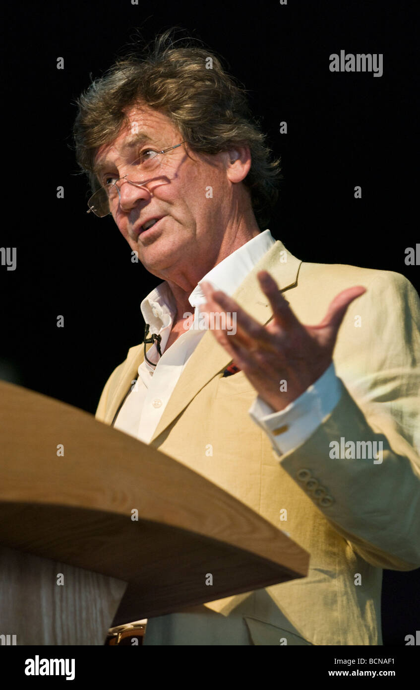 Melvyn Bragg British broadcaster and author pictured at Hay Festival 2009 - Stock Image