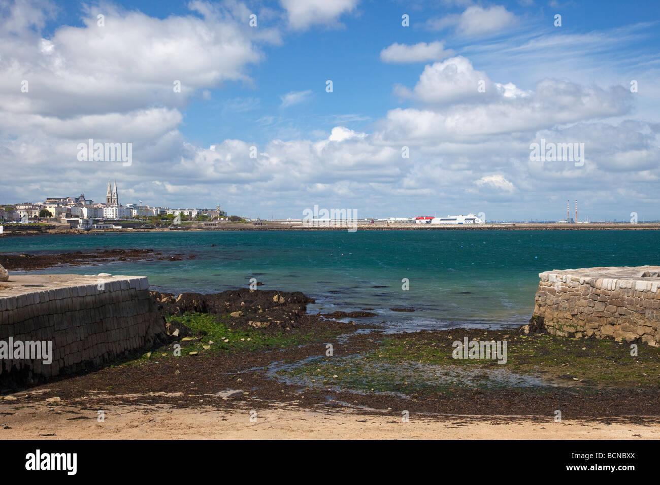 Sandy Bay Dun Laoghaire port near Dublin Ireland Eire Irish Republic Europe Stock Photo